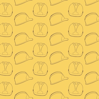 Bau Hut Helm Muster Hintergrund