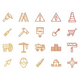 Bau und Werkzeuge Icons