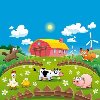 Bauernhof Hintergrund-Design