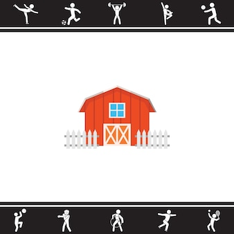Bauernhof. Vektor-Illustration