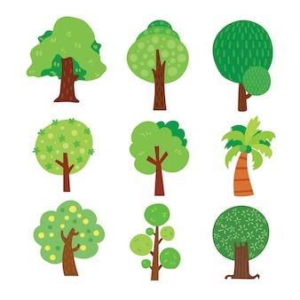 Baum Illustrationen Sammlung