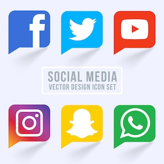 Berühmte Social Media Icons