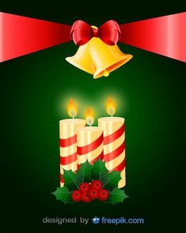 Big Krawatte hält ein Paar von Glocken und Kerzen