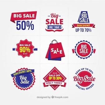 Big Verkauf Abzeichen