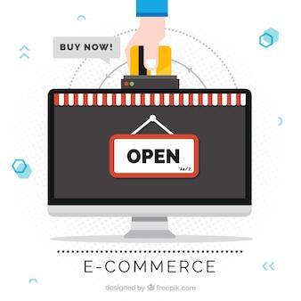 Bildschirm und Hand bezahlen mit Kreditkarte
