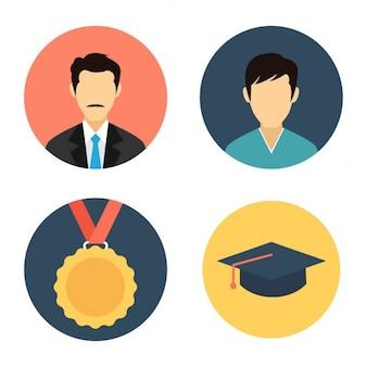 Bildung Icon-Set