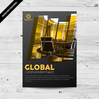 Black Business Broschüre mit gelben Details