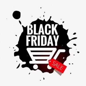 Black Friday Abzeichen im Grunge-Stil