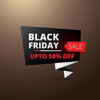 Black Friday in Origami-Stil