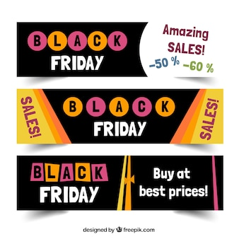 Black Friday Verkauf Banners Set