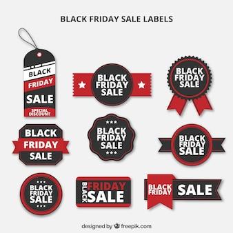 Black Friday Verkauf Labels Set