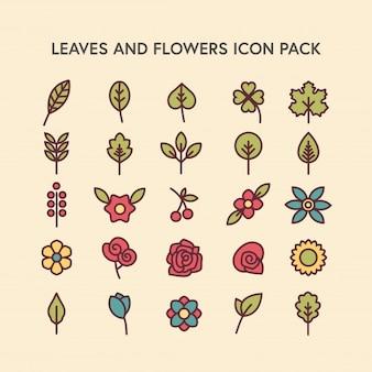 Blätter und Blumen - Icon Pack