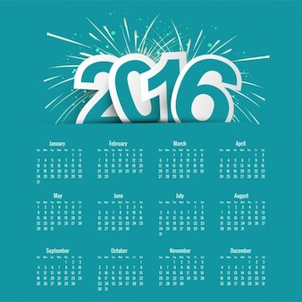 Blau 20106 Kalendervorlage