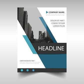 Blau kreative Jahresbericht Bucheinband Vorlage
