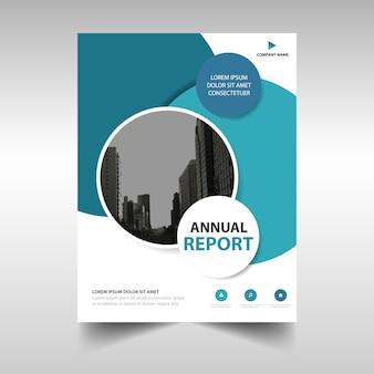 Blau kreative Jahresbericht Bucheinbandes Vorlage