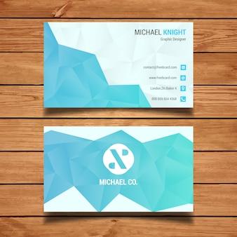Blau polygonal Visitenkarte