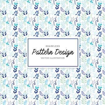 Blaue Blätter Muster Hintergrund
