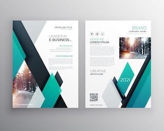 Blaue Broschüre Vorlage Layout Deckung Design für Jahresbericht in A4 Größe