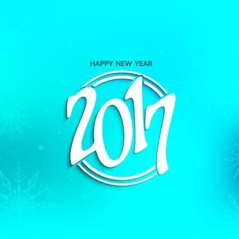 Blaue Farbe neue Jahr 2017 Hintergrund-Design