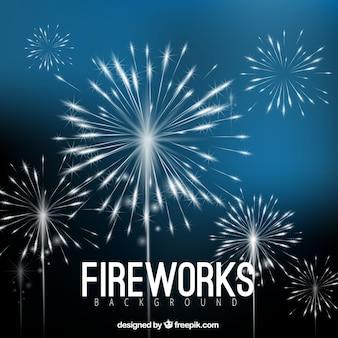 Blaue Feuerwerk Hintergrund