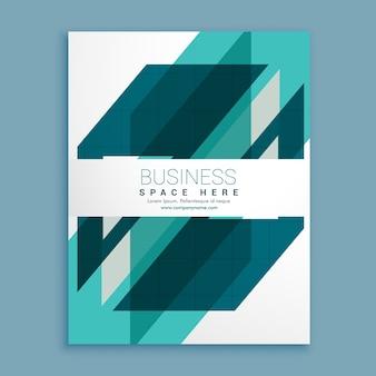 Blaue geometrische Broschüre Design-Vorlage