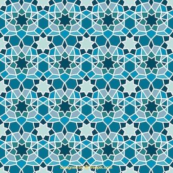 Blaue geometrische Mosaik Hintergrund