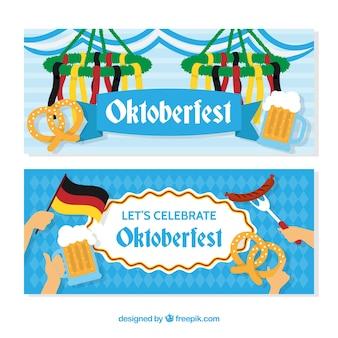 Blaue Hintergrund Banner für oktoberfest