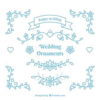 Blaue Hochzeitsschmuck