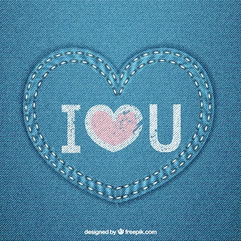 Blaue Jeans Herz