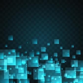 Blaue Quadrate abstrakten Hintergrund