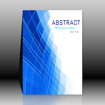 Blaue und weiße Broschüre