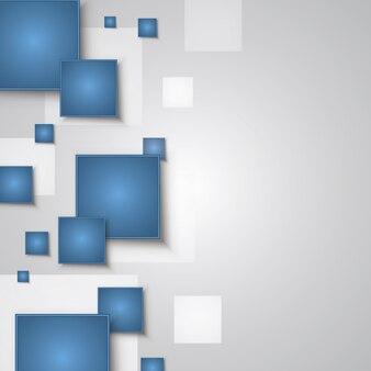 Blaue und weiße Quadrate Hintergrund