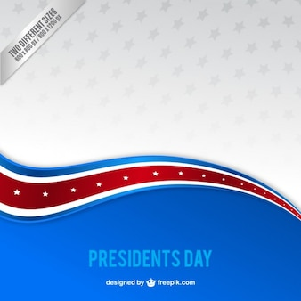 Blaue Welle Präsident day background
