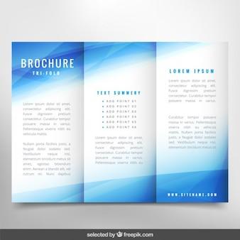 Blaue wellenförmige Broschüre