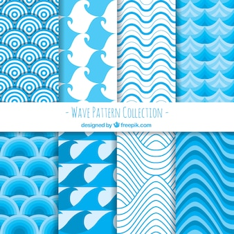 Blaue Wellenmuster