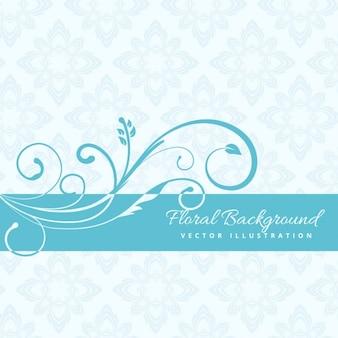 blauen Blumenhintergrund