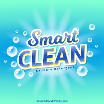 Blauer Hintergrund mit Detergenz Blasen