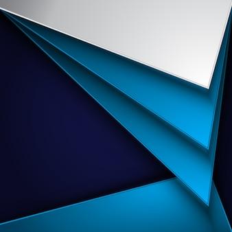 Blauer und weißer geometrischer Hintergrund