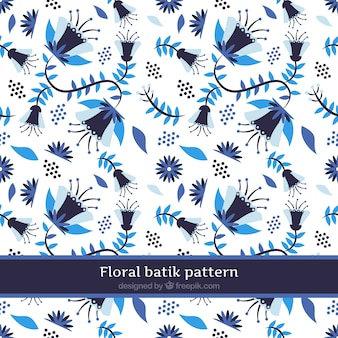 Blaues Blumenmuster