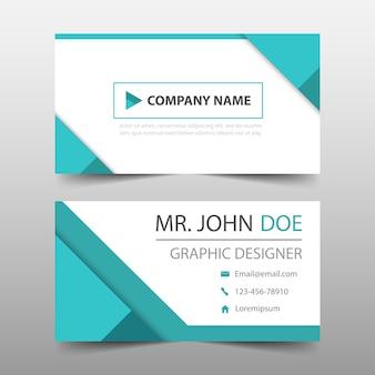 Blaues Dreieck Corporate Visitenkarte Vorlage