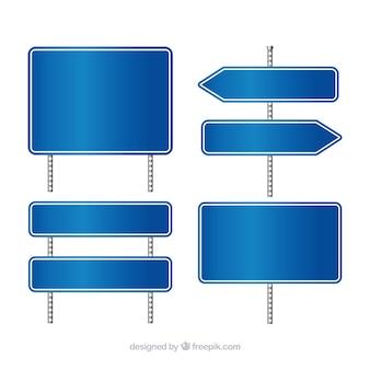 Blaues Verkehrszeichen