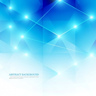 Blue abstract background in Low-Poly-Stil
