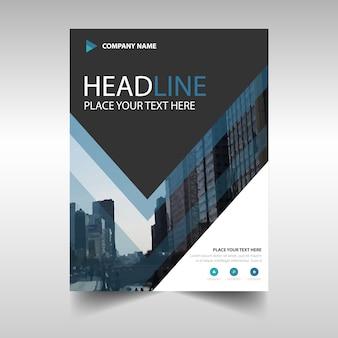 Blue Black kreative Jahresbericht Buch Cover Vorlage