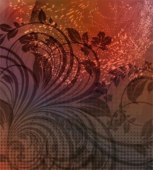 Blume natürliche alten texturierte West