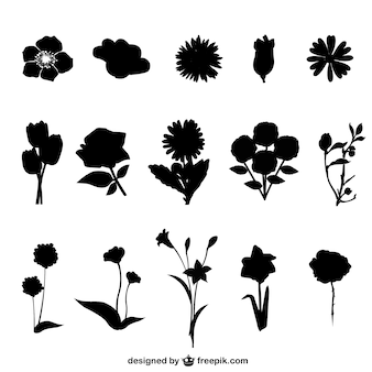 Blumen frei Silhouetten