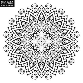 Blumen-Mandala. Vintage dekorative Elemente. Orientalisches Muster, Vektor-Illustration. Islam, arabisch, indisch, marokkanisch, spanien, türkisch, pakistan, chinesisch, mystisch, osmanische motive Malbuchbuchseite