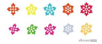 Blumenblüten Vektorformen