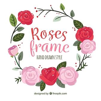 Blumenkranz aus hübschen Rosen