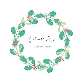 Blumenkranzentwurf
