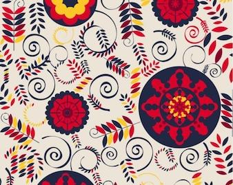 Blumenmuster Vektor-Hintergrund